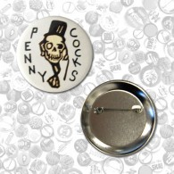 "Button - Pennycocks -  ""Skull"" (56mm)"