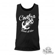 """Contra Records - """"Anchor"""" - Men Tanktop - black"""