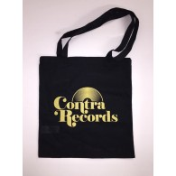 "Cotton Bag ""vinyl"" black & yellow"