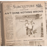 """SUBCULTURE - AIN'T DONE... lim.100 black 7"""" EP"""