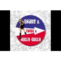 Shake Twist& Hully Gully-Button 37mm