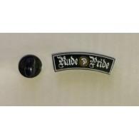 Metall-Pin - Rude Pride - lettering