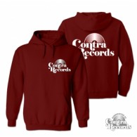 Contra Records - Vinyl- Hoody Oxblood with front/backprint!