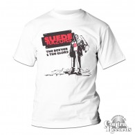 "Suede Razors -  ""The Bovver and the Glory"" -T-Shirt white"