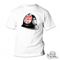 Born To Be A Pig - T-Shirt white