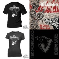 "Broadsiders - package deal # ALL THINGS MUST END 12""GF-LP + NOTHING SACRED 7""EP + Girl/T-Shirt"