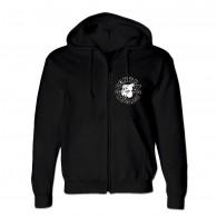 Contra Records Bulldog 2004 -  Zip Hooded Jacket black