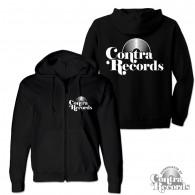 Contra Records - Vinyl classic - Zip Hooded Jacket black