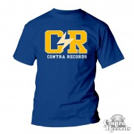 "Contra Records ""C/R"" - T-Shirt royal blue"