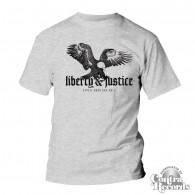 "Liberty & Justice - ""Eagle"" T-Shirt grey"