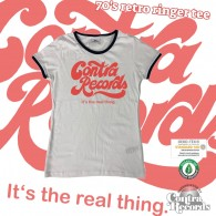"""Contra Records """"it's the real thing"""" Girl Ringer T-Shirt white/black"""