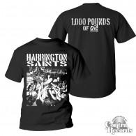 Harrington Saints - 1000lbs Of Oi! T-Shirt black front/backprint
