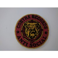 "Patch - Contra Records ""Antisocial Bulldog"""