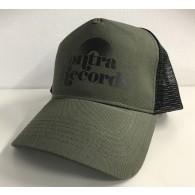 "Contra Records ""Vinyl"" - Trucker Cap army green/black"
