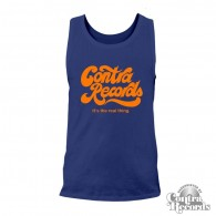 """Contra Records """"it's the real thing"""" Men Tanktop navy blue"""