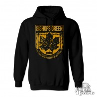 "Bishops Green - ""Leaf"" - Hoody black/yellow"
