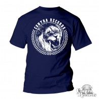 "Contra Records - ""Lion"" - T-Shirt navy blue"