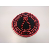 "Patch - CRIM ""noose"" red"