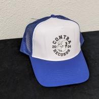 """Contra Records """"Bulldog"""" - Trucker Cap blue/white"""