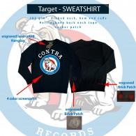 "Contra Streetwear - ""Target"" Crewneck Sweatshirt lim. black"