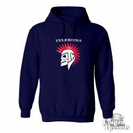 Telekoma - Skull - hoody Navy Blue front/backprint