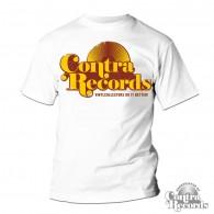 "Contra Records - ""Vinylcollectors do it better"" T-Shirt White"