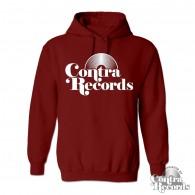 Contra Records - classic Vinyl- Hoody oxblood