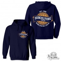 Subculture for Life - Worldwide Crew '09 - Hoody dark navy blue front/backprint