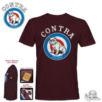 "Contra Streetwear - ""Target"" T-Shirt lim.15 oxblood red"
