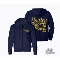 Contra Records - Good Noise - Zip Hooded Jacket dark navy blue