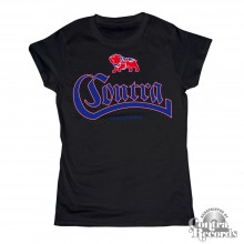 Contra - Streetwear Bulldog black - Girl Shirt