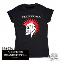 Telekoma - Skull - Girl Shirt black