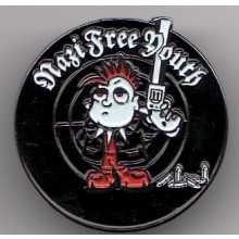 "Nazi Free Youth ""Mordy"" - Metal-Pin"