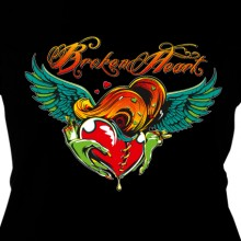 Broken Heart black - Girl Shirt