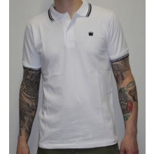 Kings League - White/Black - Polo Shirt-XS (last size!)