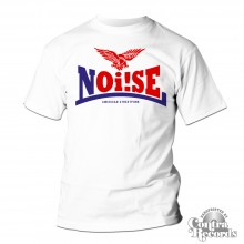 Noi!se - Schriftzug white - T-Shirt