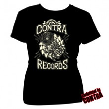 Contra Records - Old Scool - Girl Shirt black