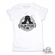 Yellow Stitches  - Girl Shirt - sky white