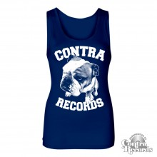 Contra Records - Bulldog - Girl Tanktop navy blue (last sizes!)
