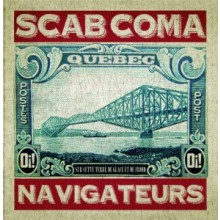 "SCAB COMA - NAVIGATEURS - 7"" EP, lim.200 red yellow splattered"