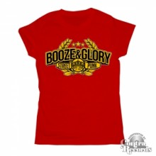 Booze & Glory - Girl Shirt - Streetpunk - red (last sizes!)