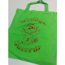 "Contra Records-""Rose"" Cotton Bag Green"