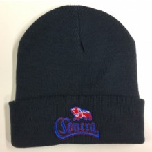 Contra Records - Bulldog - Beanie  (dark Navy Blue)