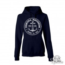 "Contra Records - ""Anchor new"" - Girl Hoody dark navy blue"