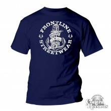 "Frontline Streetwear -""ANCHORED IN TRADITION"" T-Shirt navy blue"