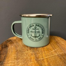 "Contra Records - ""Anchor new"" - Metal Tasse/Mug green"