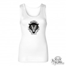 "Contra Records ""Black Panther"" Girl Tanktop white"
