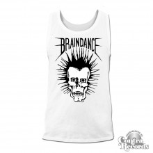 "Braindance - ""Skull"" Men Tanktop white"