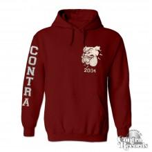 Contra - Streetwear Bulldog - Hoody oxblood