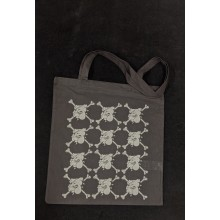"Cotton Bag - ""bulldog"" black/white print"
